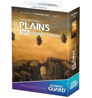 Sleeves Lands Edition Plains x100 66x91 Ultimate Guard Kortbeskytter/DeckProtect