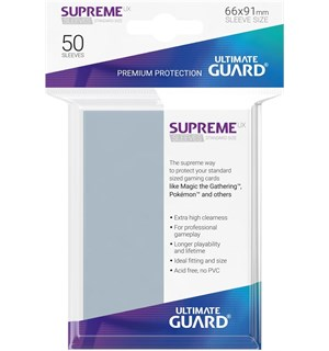 Sleeves Supreme UX Klar 50 stk 66x91 Ultimate Guard Kortbeskytter/DeckProtect