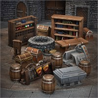 Terrain Crate Dungeon Essential Fra Mantic Games - 27 deler