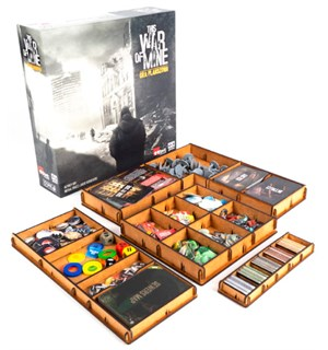 This War of Mine/Ruined City Insert Få kontroll i spillboksen