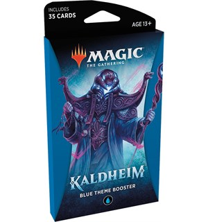 Magic Kaldheim Theme Blue Theme Booster - 35 blå kort