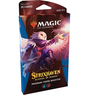 Magic Strixhaven Theme Prismari Theme Booster - 35 blå/røde kort