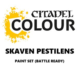 Skaven Pestilens Paint Set Battle Ready Paint Set for din hær