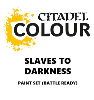 Slaves to Darkness Paint Set Battle Ready Paint Set for din hær