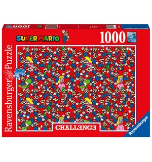 Super Mario Challenge 1000 biter Puslespill - Ravensburger Puzzle