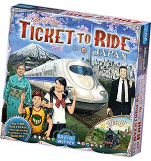 Ticket To Ride Map Coll 7 Japan/Italy Map Collection 7 - Utvidelse/Expansion