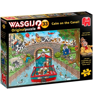 Wasgij Original 33 Puslespill Calm on the Canal