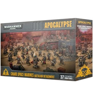 Apocalypse Detachment Chaos Space Marine Warhammer 40K - Battalion