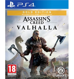 Assassins Creed Valhalla Gold PS4 Gold Edition med Season Pass