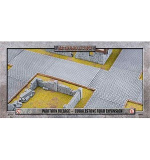 Battlefield in a Box Cobblestone Road Painted Tabletop Terrain - 25-35mm