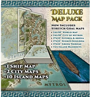 D&D Odyssey Dragonlords Deluxe Map Set Dungeons & Dragons + GM Screen