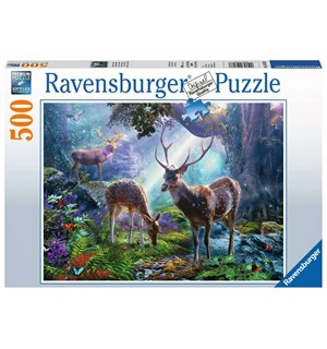 Deer in the Wild 500 biter Puslespill Ravensburger Puzzle