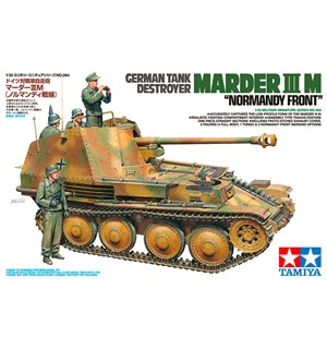 German Tank Destroyer Marder III M Tamiya 1:35 Byggesett - Normandy Front