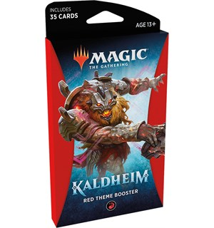 Magic Kaldheim Theme Red Theme Booster - 35 røde kort