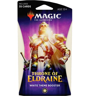 Magic Throne of Eldraine Theme White Theme Booster - 35 hvite kort