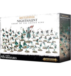Nighthaunt Court of the Craven King Warhammer Age of Sigmar - 46 miniatyrer
