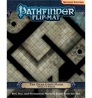 Pathfinder Flip Mat Dead Gods Hand Second Edition - Multi Pack