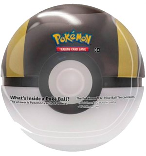 Pokemon Tin Pokeball Ultra (Gul) Spring 2020 Edition