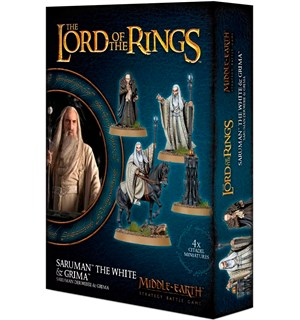 Saruman the White & Grima Wormtongue Middle-Earth Strategy Battle Game