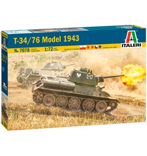 T-34/76 Model 1943 Italeri 1:72 Byggesett