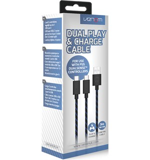 Venom Dual Play Charge Cable PS5 Dobbel ladekabel til PlayStation 5