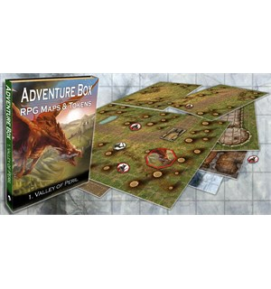 Adventure Box RPG Maps & Tokens Vol 1 Valley of Peril