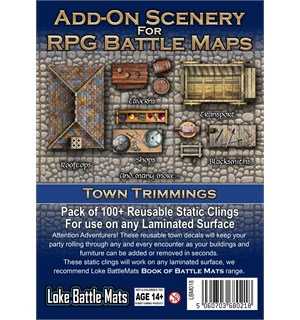 Book Of Battlemats ADD-ON Town Trimming Klistremerker til Book of Battlemats