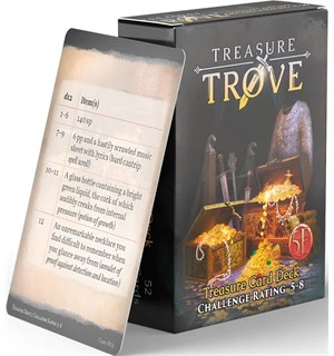 D&D Treasure Trove Deck CR 5-8 Dungeons & Dragons - 52 kort