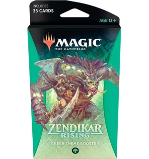 Magic Zendikar Rising Theme Green Theme Booster - 35 grønne kort