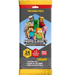 Minecraft Trading Cards Premium Pack Adventure Trading Cards - 26 kort