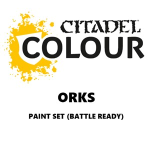 Orks Paint Set Battle Ready Paint Set for din hær