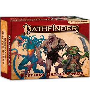 Pathfinder 2nd Ed Cards Bestiary Battle Second Edition RPG - 450 kort