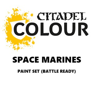 Space Marines Paint Set Battle Ready Paint Set for din hær