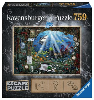 Submarine 759 biter Puslespill Ravensburger Escape Room Puzzle
