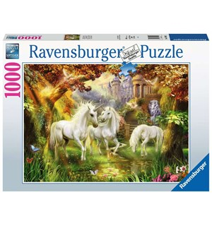 Unicorns in Forest 1000 biter Puslespil Ravensburger Puzzle