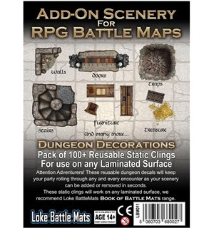 Book Of Battlemats ADD-ON Dungeon Decor Klistremerker til Book of Battlemats