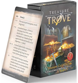 D&D Treasure Trove Deck CR 9-12 Dungeons & Dragons - 52 kort