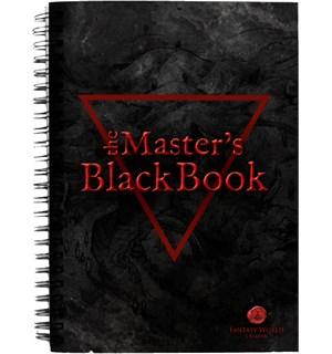 Fantasy World Creator Masters Black Book Proff notatbok for Dungeon Masters
