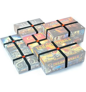 GeekOn Board Game Box Bands - 10 stk Strikk til brettspill boksen