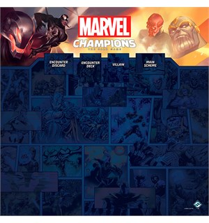 Marvel Champions 1-4 Player Game Mat Spillmatte til Marvel Champions 66x66 cm
