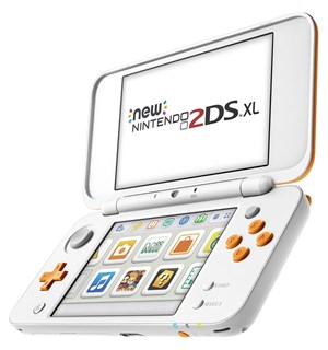 New Nintendo 2DS/3DS XL Hvit+Oransjl 2DS XL erstatter 3DS XL Med Lader