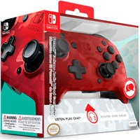 Nintendo Switch Controller Camo Red Faceoff Deluxe - m/ audio jack inngang