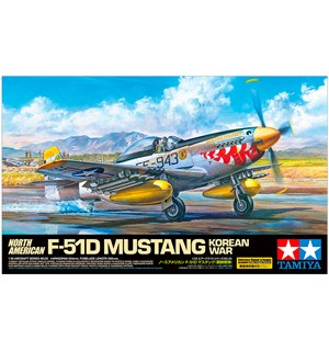 North American F-51D Mustang Korean War Tamiya 1:32 Byggesett