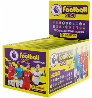 Panini Football 2020 Sticker Display 50 19/20 PremierLeague Fotballklistremerker