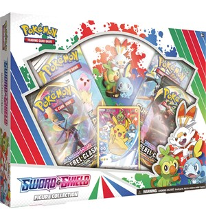 Pokemon Sword Shield Figure Coll. Box Inkluderer glinsende kort med Pikachu!