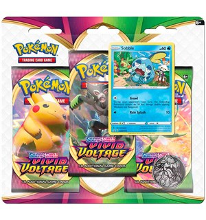 Pokemon Vivid Voltage 3-Pack Sobble Sword & Shield 4 - 3 boosterpakker