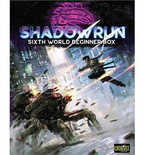 Shadowrun RPG Sixth World Beginner Box Startsett for Shadowrun 6th Edition