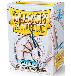 Sleeves Classic White x100 - 63x88 m/box Dragon Shield Kortbeskyttere med deckbox