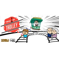Trial by Trolley Brettspill Fra skaperne av Joking Hazard