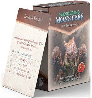 D&D Wandering Monsters Deck Underground Dungeons & Dragons - 52 kort